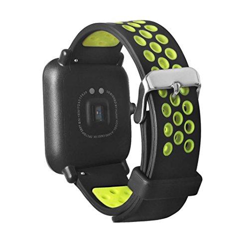 Foto de Correa Xiaomi Huami Amazfit, Magiyard Reemplazo & Adjustable pulsera (Verde)