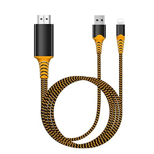 Cable Adaptador HDMI 1080P, Adaptador AV Digital 1080p HD para TV, Compatible con i-Phone XS MAX XR 8 7 6Plus, i-Pad, i-Pod a Monitor de proyector de TV.