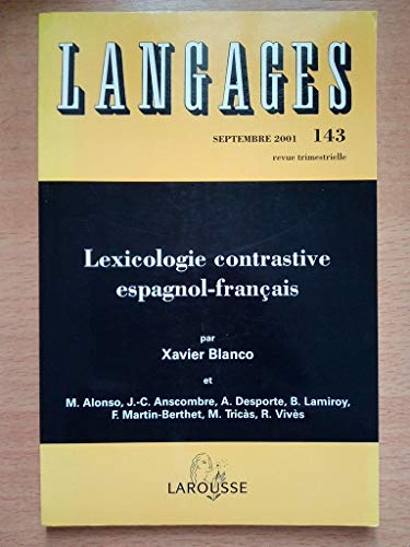 Revue langages 143 lexicologie contrastive espagnol-français