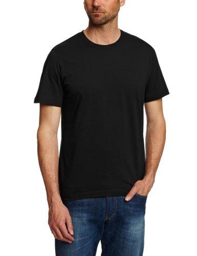 hanes-herren-t-shirts-crew-schwarz-black-x-large