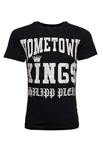 Philipp plein kujira mtk0913 0201 maglietta nero black/white uomo