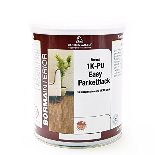 1in2 Easy PU Parkettlack Treppenlack Korkbodenlack (Matt - 30, 1 Liter)