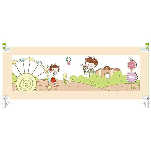 CI-BED RAIL Baby-Bettgitter for Kingsize-Bett, Kinder-Bettgitter for Full-Size-Bett Vertikallift for Sicherheitsgitter for Kinder Kind Kleinkinder (Color : Yellow, Size : 2.0m) (Full-size-bett Für Kleinkind)