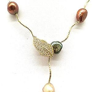 Rolicia Süßwasser-Zuchtperlen-Halskette mit Geschenkbox
