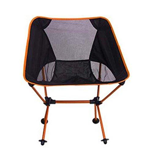 L&J Camping Klappstühle, Outdoor Portable Freizeit Stuhl, Aluminium-Legierung Angeln Stuhl...