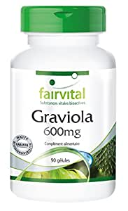 Graviola 600mg - 90 gélules végétariennes sans additif