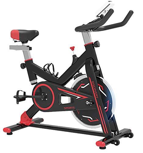 Gomfe Indoor Cycling Heimtrainer Aerobic-Bike mit verstellbaren Lenkern und Sitzen Weiß