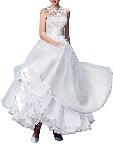DaisyFormals 50s Caviglia Lunghezza Retro Vintage Crinolina underskirt Rockabilly sottogonna tutù Gonna,100cm(FBA per colore specifico) Avorio