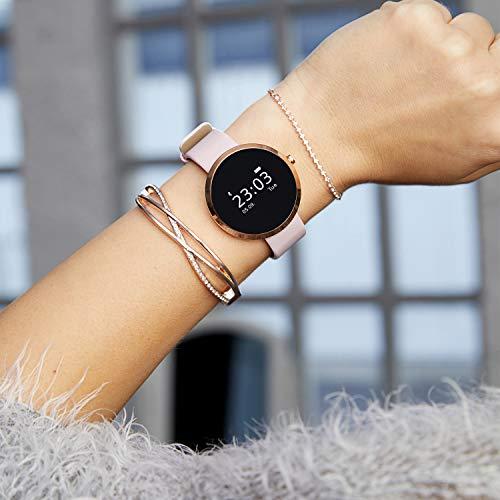 X-WATCH SIONA Smartwatch Damen iOS und Android Watch - Damenuhr rosegold Aktivitätstracker Damen elegant Fitnessarmband mit Herzfrequenz Fitness Uhr mit Schrittzähler - 4