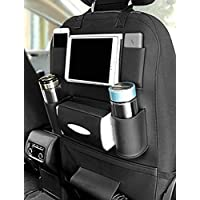 Axmon® Car Back Seat Storage Organizer - PU Leather Car Seat Back Protection [7 Separate compartments] Universal Multi…