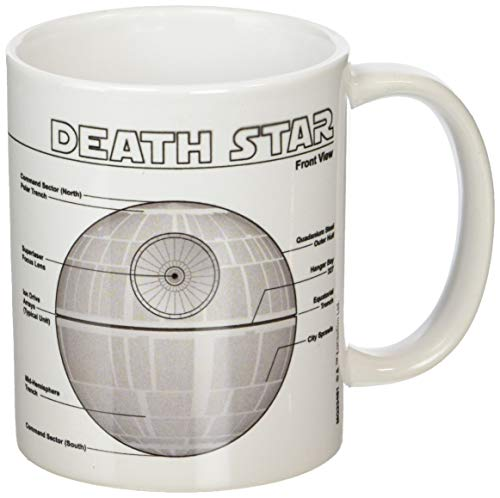 Star Wars Death Star Sketch 11oz/315ml Kaffeetassen, Mehrfarbig