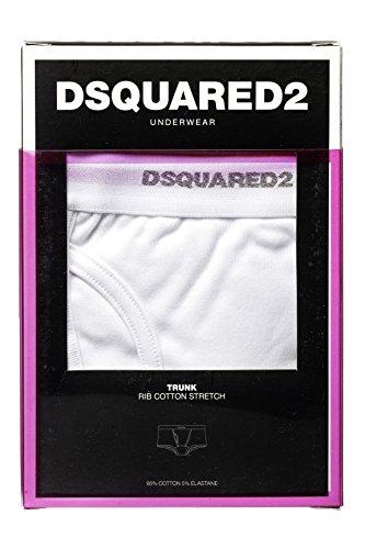 Dsquared² Classic Knit Herren Unterwäsche Boxershort RIB COTTON JERSEY Weiß