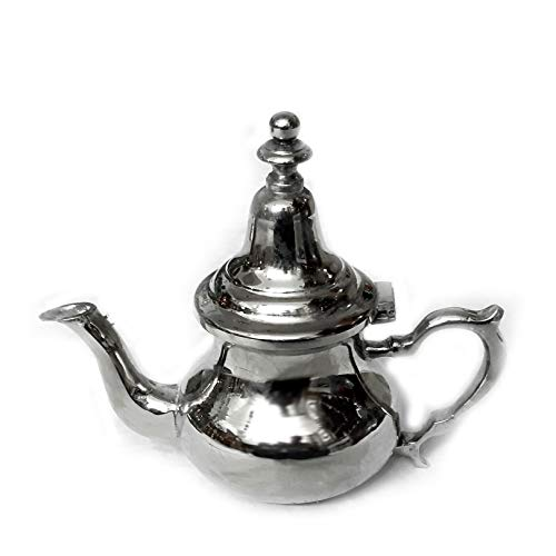 Moroccan Elegance Teapot Silver Height 16 cm Handmade Oriental Moroccan Tea Pot or Coffee Pot