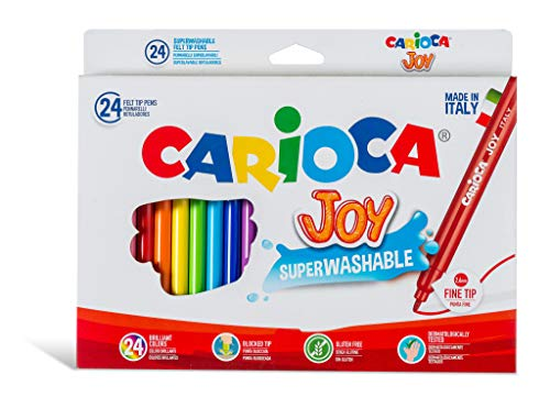 Carioca 40615 pennarelli colorati superlavabili, 24 pezzi