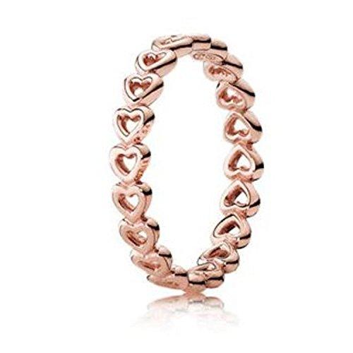 Pandora Damen-Motivring Silber_vergoldet mit '- Ringgröße 52 (16.6) 180177-52 (Pandora Eine Liebe Ring)