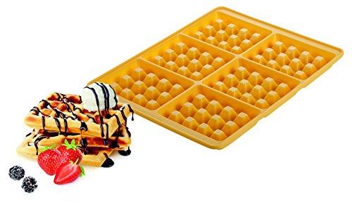 Tescoma Delicia Stampo per 6 Waffle, Silicone, Giallo