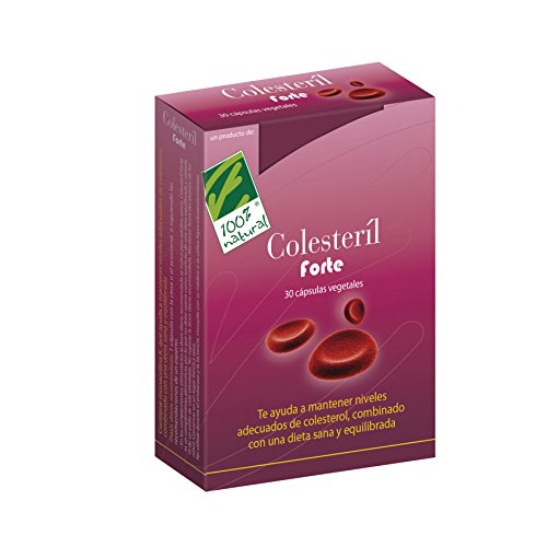 100% natural Colesteril Forte Suplemento de Hierbas - 30 Cápsulas