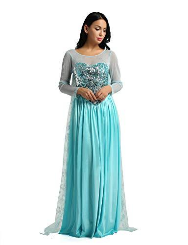Iixpin Disfraz Princesa Reina Nieve Mujer Vestido