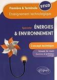 Enseignement technologique spécialité énergies & environnement 1re et Tle STI2D : Concept technique