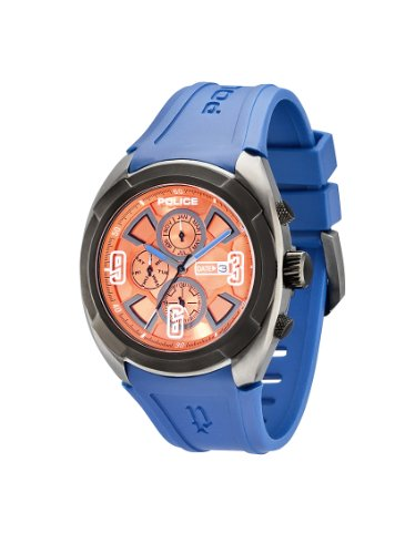 police-saturn-mens-quartz-watch-with-orange-dial-analogue-display-and-blue-rubber-strap-pl13594jsub-