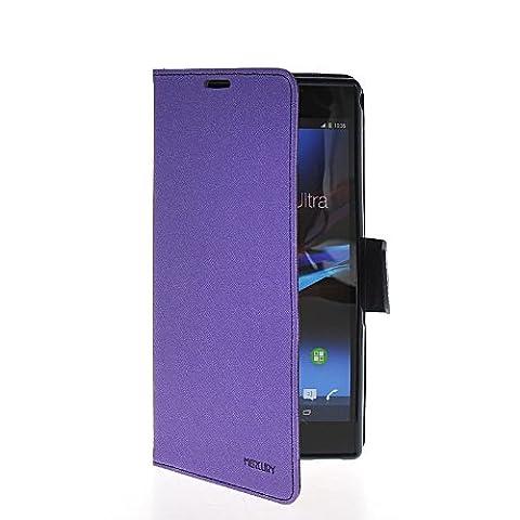 MOONCASE Housse de Protection Etui Coque en Cuir Portefeuille Flip Cover Case pour Sony Xperia Z Ultra XL39h Voilet