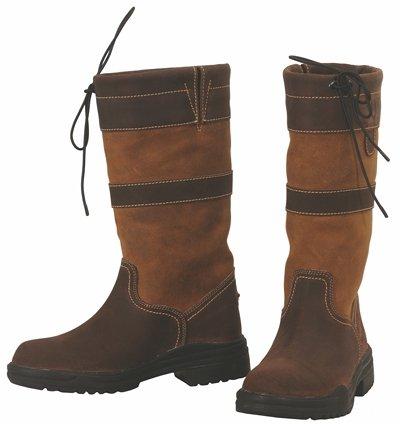 Importiert Damen Stiefel (TuffRider Low Country wasserdichte Stiefel, Damen, Chocolate/Fawn, 11)