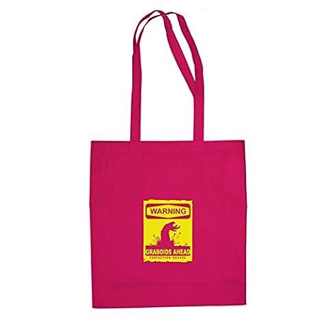 Warning Graboids - Stofftasche / Beutel, Farbe: pink (Wie Begann Weihnachten)