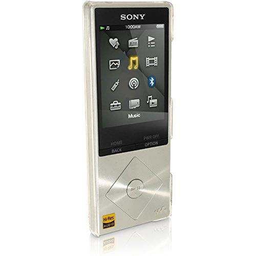 igadgitz Claro Funda Carcasa Plástico Duro para Sony Walkman NWZ-A15 NWZ-A17 NW-A25 NW-A27 8GB 16GB 32GB & 64GB Case Cover + Protector Pantalla
