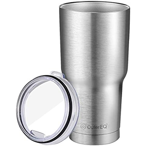 OuterEQ Insulated Travel Mug Stainless Steel Tumbler(30 OZ,2 Pack) by