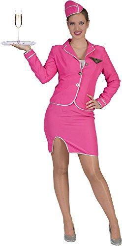 Pierro´s Kostüm Stewardess Pink Größe ()