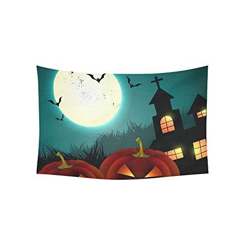 JOCHUAN Wandteppich Halloween gruselig Kürbis Design Wandteppiche Wandbehang Blume psychedelischen Wandteppich Wandbehang indischen Wohnheim Dekor für Wohnzimmer Schlafzimmer 60 X 40 Zoll
