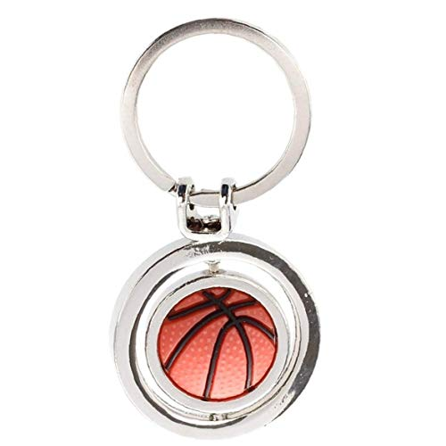 FEDSJUIHYG Kreative Rotating Basketball-anhänger Tragbare Metall-schlüsselanhänger Multifunktional Schlüsselanhänger 1pc Anhänger Schlüsselanhänger