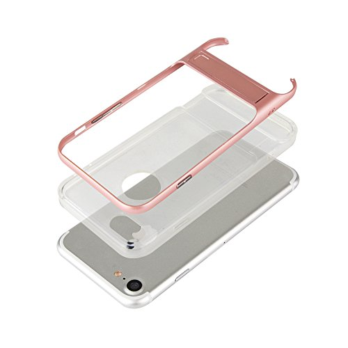 iPhone 7, iPhone 7, Trasparente Ultra Sottile Custodia Cover [Crystal Clear] KIO TPU trasparente Custodia in silicone Case con integrato Kick Stand per Apple Iphone 7 iPhone 7 bianco Marineblaus