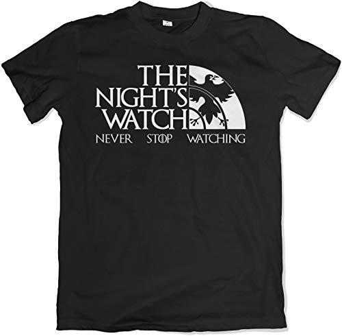 Teamzad The Nights Watch Protecting The Throne Negro Camiseta Medium