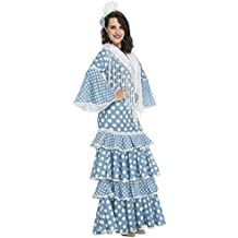My Other Me - Disfraz de flamenca Huelva para mujer, color turquesa, XL (Viving Costumes 204950)
