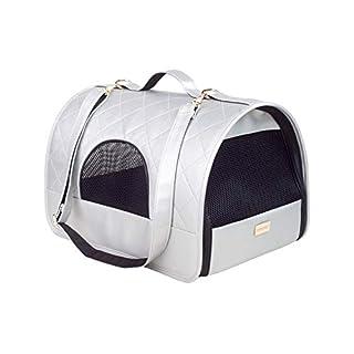 amiplay Venus Transporttasche Hundetasche Hundetragetasche 2 Größen M/L (L - 45x29x28cm, Silber)
