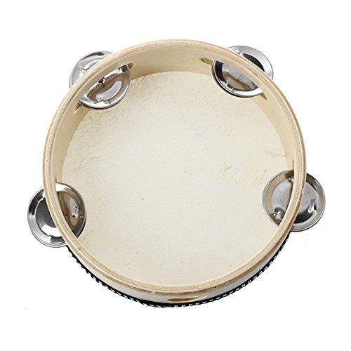 Pandereta piel de oveja, de Lumanuby, superresistente instrumento de percusión para niños Juguetes infantiles para la formación del talento musical infantil para guardería 15cm