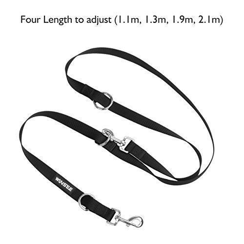 Dog-Lead-WINSEE-Dog-Training-Leash-Adjustable-Solid-and-DurableBlack