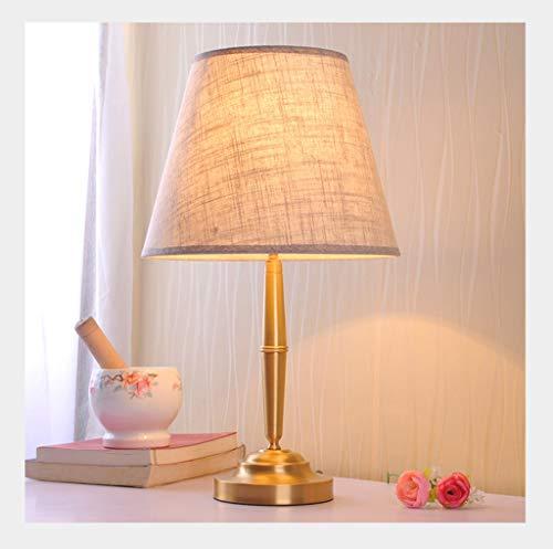 Lampe de table F Lampe de table simple en cuivre de la chambre à coucher (Couleur : B)