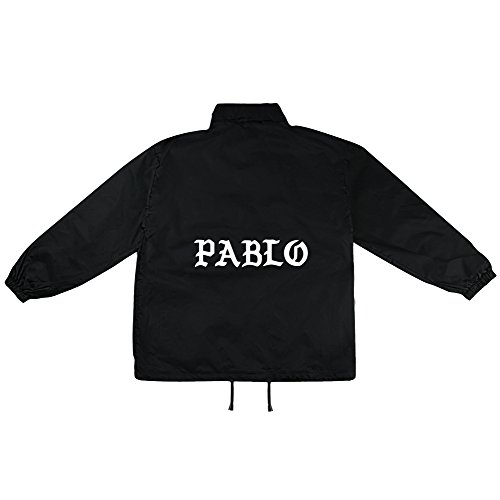 Pablo Motiv auf Windbreaker, Jacke, Regenjacke, Übergangsjacke, stylisches Modeaccessoire für HERREN, viele Sprüche und Designs / (Party White Männer Outfits Alle)