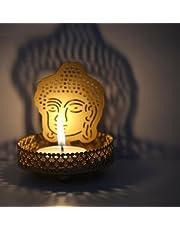 eCraftIndia Lord Buddha Metal Tea Light Holder