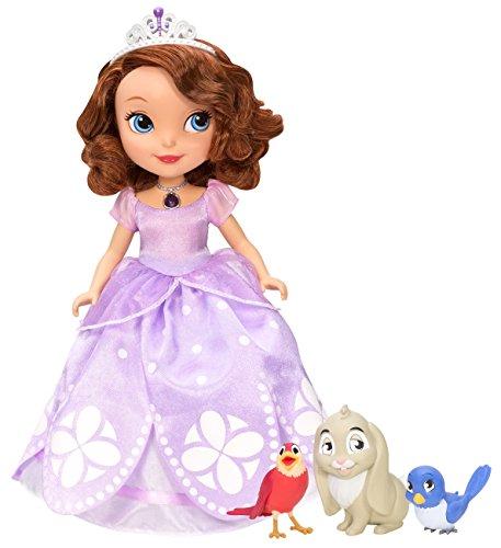 Mattel Disney La principessa Sofia, la bambola parlante e i suoi amici animali, 25 cm