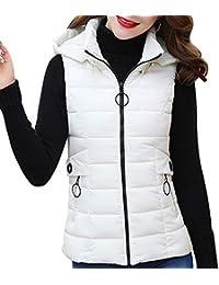 Yudesun Cálido Abrigo Chalecos Chaqueta Mujer - Señoras Invierno Plumas  Relleno Ropa Abrigos Sin Mangas con de13b682dbdd