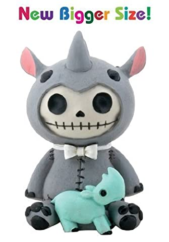 Furry Bones Rhino Buster Gris figurine
