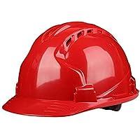 4479577e06639 XMGJ Cascos Casco de construcción-Duro Sin ventilación Sombrero de seguridad  Equipo de protección personal