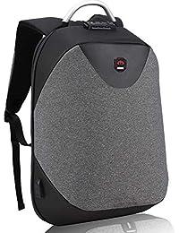 Tbag Mochila Portátil para Hombres Mochila Antirrobo Impermeable para Portátil Multiusos Daypacks con Puerto de Carga