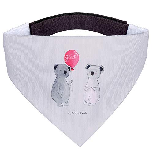 Mr. & Mrs. Panda Tuch, große Hunde, Hundehalstuch L Koala Luftballon - Farbe Grau Pastell