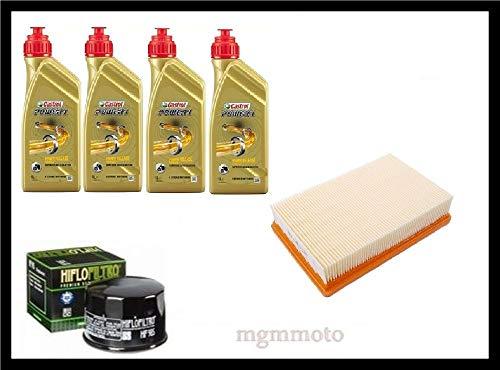 Kit tagliando olio castrol 10w40 filtro olio aria B.M.W R1200RS LC 1200 2014