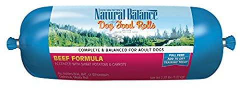 Natural Balance Beef Formula Dog Food Roll Complete Adult Training Treat 2.25lbs