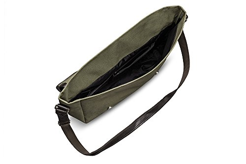 Solier Herren Schulter Notebook Tasche Umhängetasche Premium S17 Grün